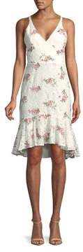 WAYF Embroidered Floral Dress