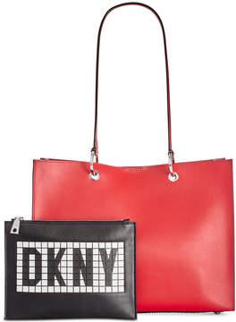 DKNY Mott Tile Logo Tote