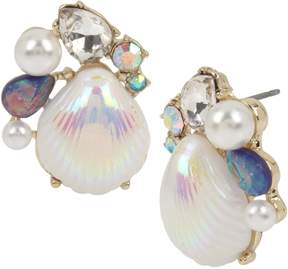 Betsey Johnson CRABBY COUTURE SHELL CLUSTER EARRINGS