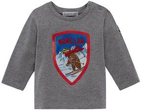 Moncler Long-Sleeve Maglia Skiing Bear T-Shirt, Size 12M-3T