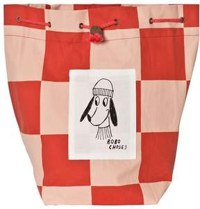 Bobo Choses Red Square Print Small Loup Bag