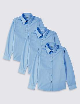 Marks and Spencer 3 Pack Boys' Slim Fit Easy to Iron Shirts
