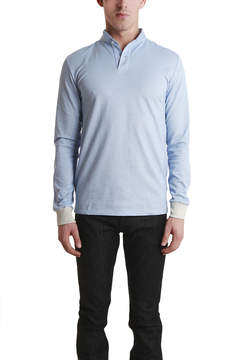 Blue & Cream Blue&Cream Long Sleeve Military Polo