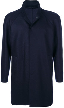 Emporio Armani ribbed collar coat
