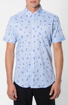 7 Diamonds Men's 'California Sway' Trim Fit Short Sleeve Print Woven Shirt