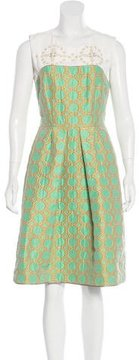 Mantu Jeweled Printed Dress