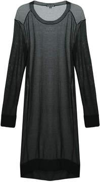 Ann Demeulemeester sheer long-line sweater