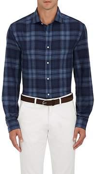 Ralph Lauren Purple Label Men's Plaid Cotton-Cashmere Shirt