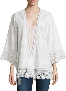 Calypso St. Barth Women's Harada Cotton Embroidered Jacket