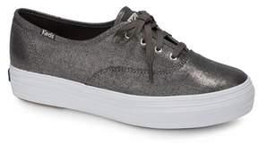 Keds Triple Metallic Linen Sneaker