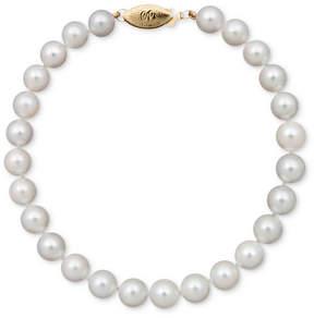 Belle de Mer Pearl Bracelet, 7-1/2 14k Gold A+ Akoya Cultured Pearl Strand (6-6-1/2mm)