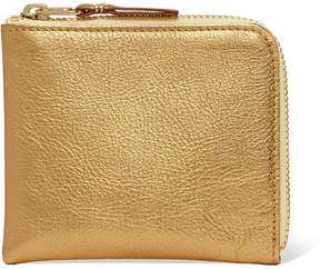 Comme des Garcons Metallic Textured-leather Wallet - Gold