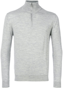 Cruciani zipped funnel neck sweater
