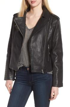 BB Dakota Mathew Textured Leather Jacket