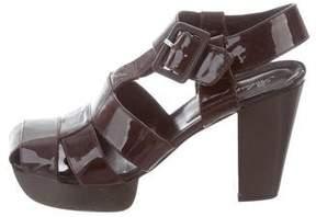Robert Clergerie Patent Leather Platform Sandals