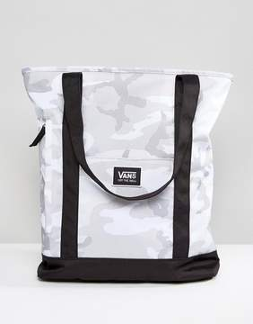 Vans Made For This Tote In Gray Camo Print