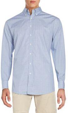 Gant Fitted Tonal Plaid Check Cotton Sportshirt