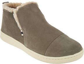 ED Ellen Degeneres Suede & Fleece Ankle Boots -Cambon
