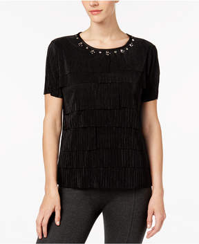 Alfred Dunner Talk Of The Town Embellished Tiered Top