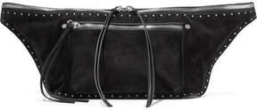 Rag & Bone Elliot Large Leather-trimmed Suede Belt Bag - Black