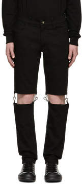 D.gnak By Kang.d Black Detachable Jeans
