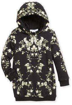 Givenchy Baby's Breath Hooded Sweatshirt Dress, Size 12-14