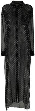 Alexandre Vauthier polka-dot sheer shirt dress
