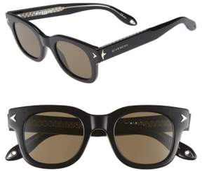 Men's Givenchy 7037/s 47Mm Sunglasses - Black Crystal