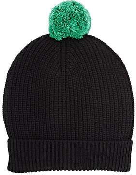 Barneys New York MEN'S BLACK POM-POM BEANIE