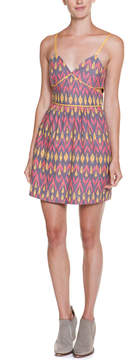 Dolce Vita Roxeann Pink Multicolor Print Bodycon Cutout Dress