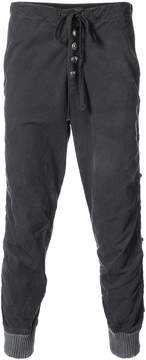 Greg Lauren tent stacked lounge pants