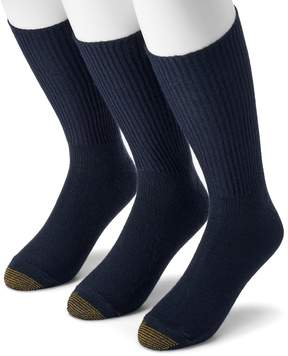 Gold Toe GOLDTOE Big & Tall Extended Size GOLDTOE 3-pk. Fluffies Crew Socks