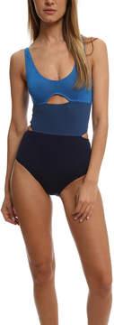 Bec & Bridge Blue Cut-Out Body Suit
