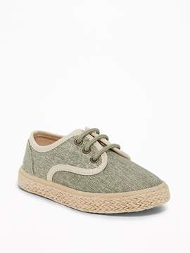 Old Navy Green-Chambray Espadrilles for Toddler Boys