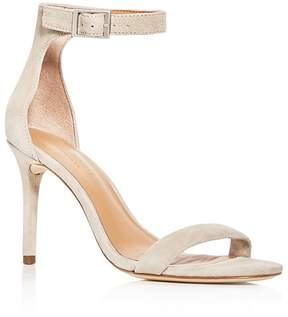 Halston Women's Ester Suede Ankle Strap High Heel Sandals