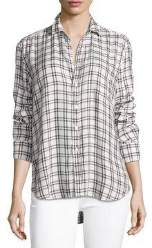 Frank And Eileen Eileen Grid-Print Long-Sleeve Button-Front Shirt