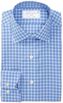 Lorenzo Uomo Plaid Trim Fit Perfect Dress Shirt