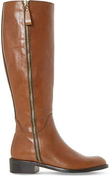 Dune Ladies Brown Luxe Tillyy Leather Riding Boots