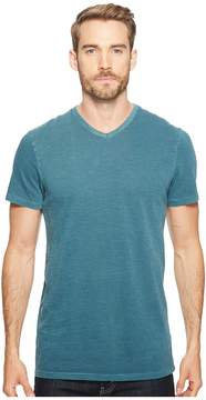Alternative Washed Slub Locals Only V-Neck Men's Clothing
