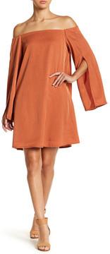Do & Be Do + Be Off-the-Shoulder Slit Sleeve Dress