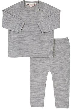 Bonpoint Fine-Gauge-Knit Wool Sweater & Pants Set
