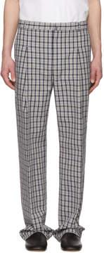 Acne Studios Blue Check Kalnar Suit Trousers