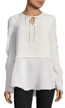 Ellen Tracy Crinkle Georgette Blouse