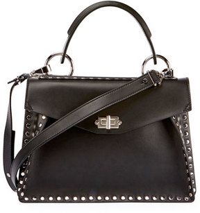 Proenza Schouler Hava Medium Top-Handle Satchel Bag, Black