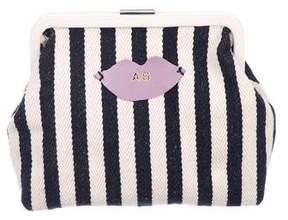Clare Vivier Striped Canvas Frame Bag