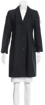 Akris Knee-Length Silk Jacket