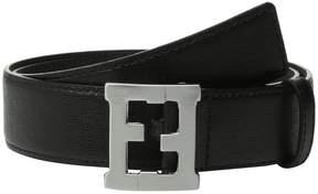 Fendi Logo Buckle Leather Belt Boy's Belts