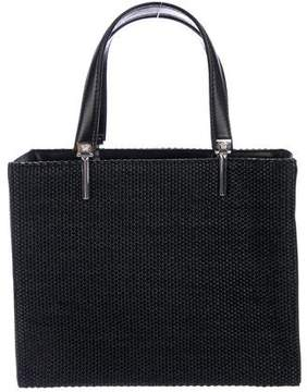 Gianni Versace Leather-Trimmed Small Handle Bag