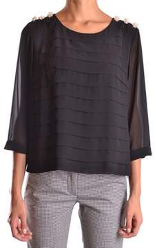 Edward Achour Paris Women's Black Polyester Top.