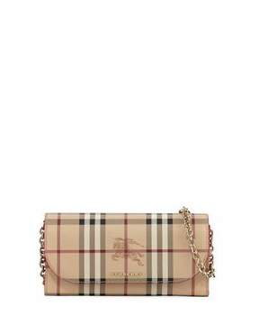 Burberry Henley Haymaket Check Leather Shoulder Bag - RED - STYLE